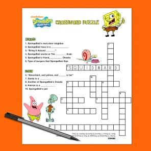 SpongeBob Crossword