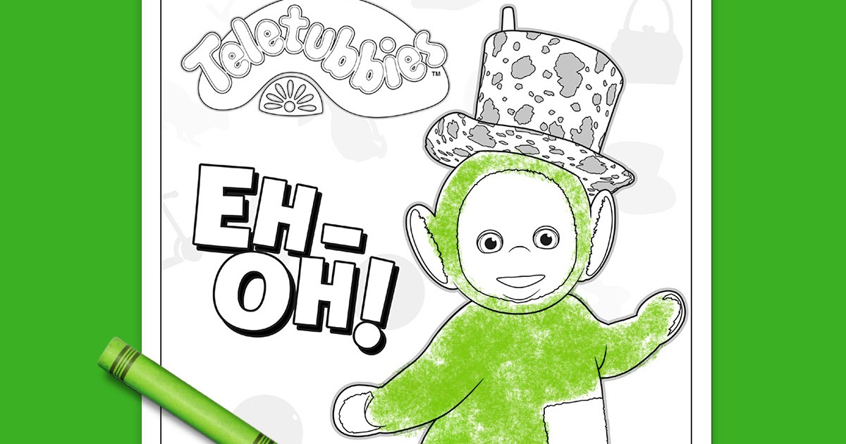 Teletubbies Coloring Page Dipsy Nickelodeon Parents