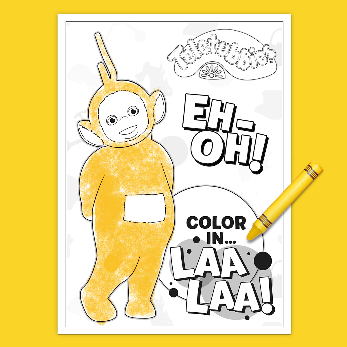 Teletubbies coloring page laa laa