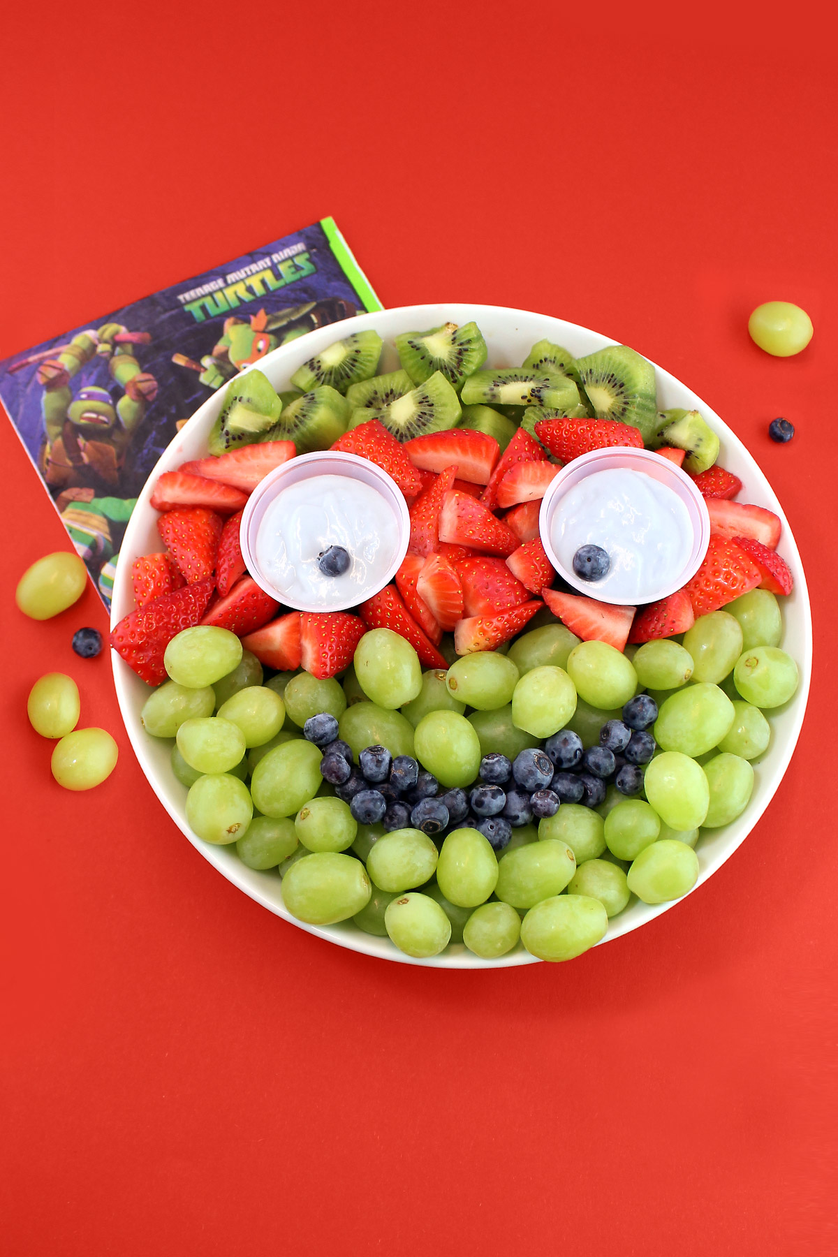 TMNT Fruity Face Fruit Platter Recipe