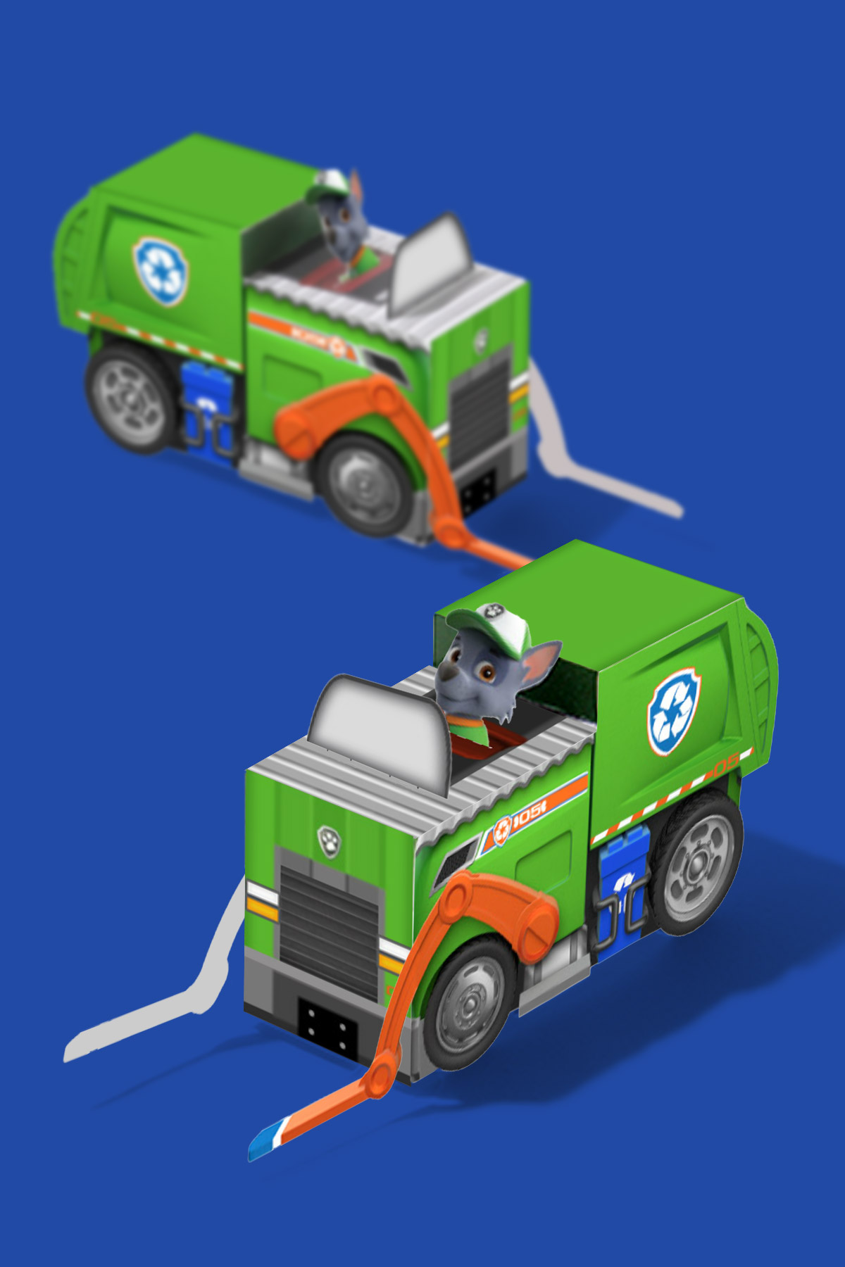 Rocky Paper Vehicle Toy