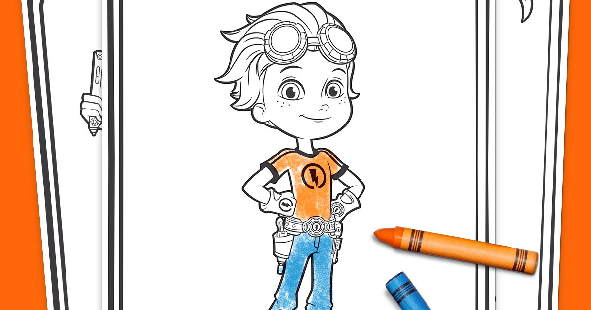 Rusty Rivets Coloring Pack Nickelodeon Parents