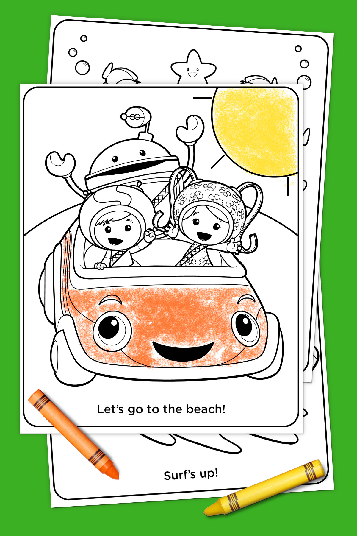 Team Umizoomi Summertime Coloring Pack