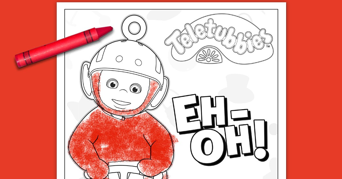Teletubbies Coloring Page Po Nickelodeon Parents