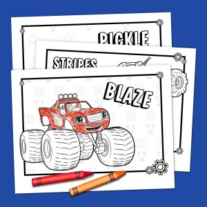 photograph relating to Blaze and the Monster Machines Printable Coloring Pages named Blaze Coloring Pack Nickelodeon Mom and dad