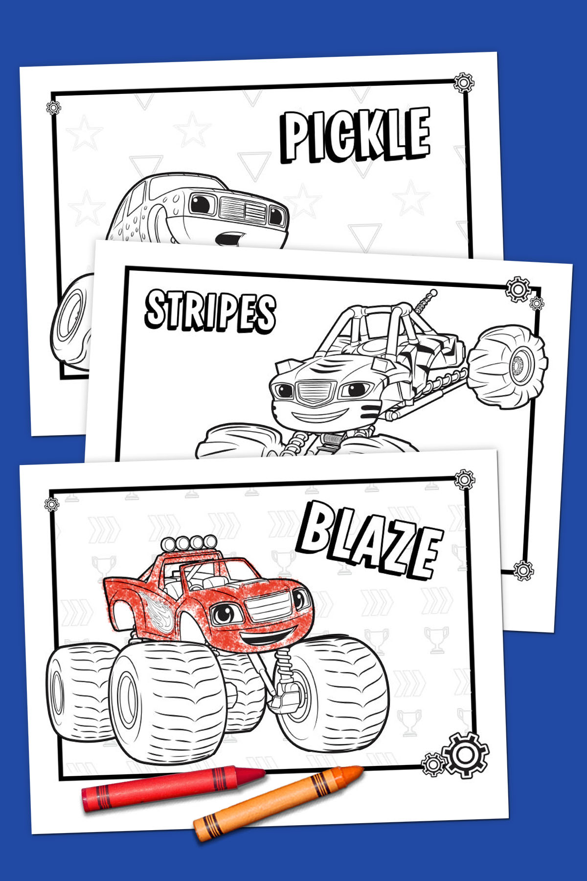 Blaze Monster Wild Wheels Coloring Pages | Blaze and the Monster ... | 1800x1200