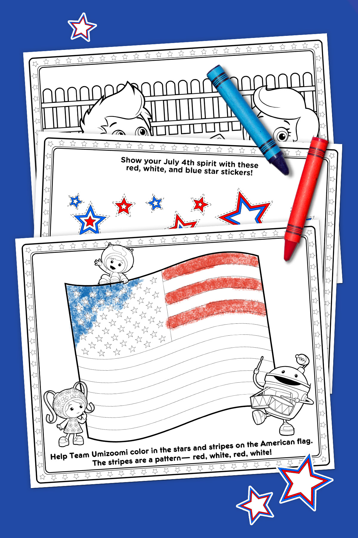 Nick Jr. Independence Day Activity Pack