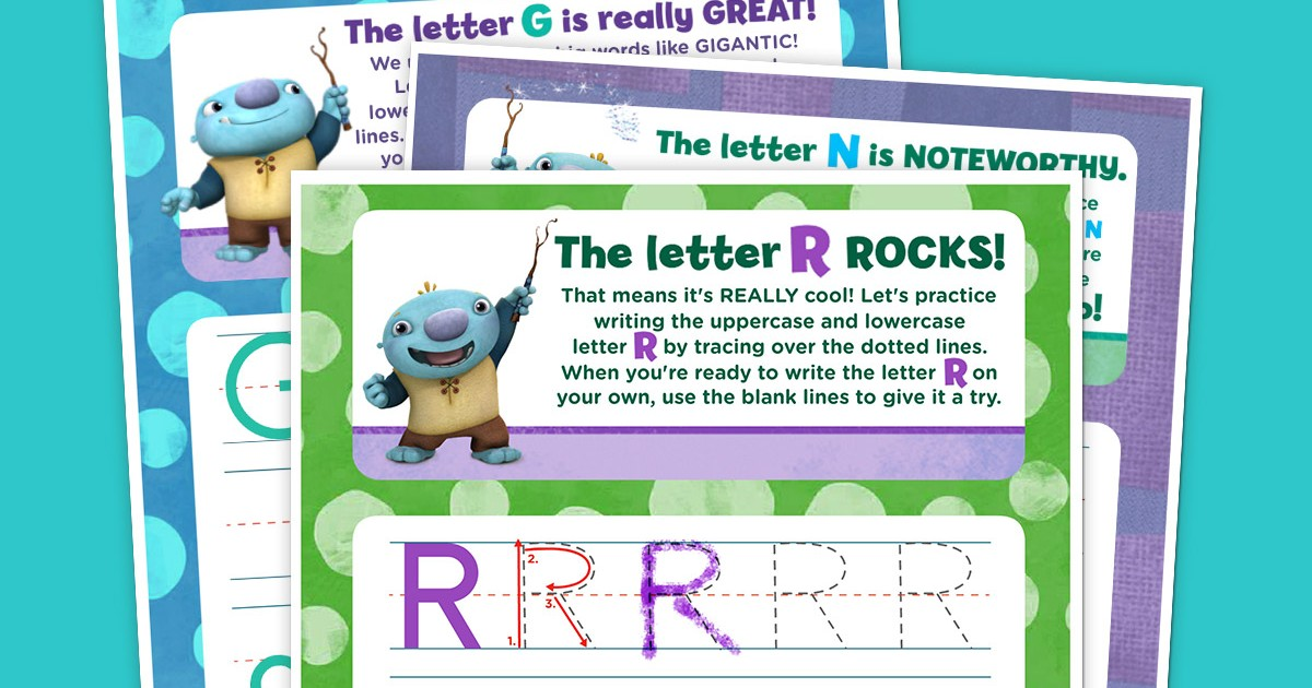 Wallykazam Letter Tracing Pack Nickelodeon Parents