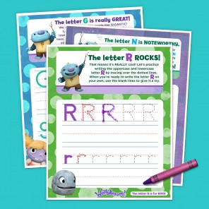Wally Letter Tracing Sheets