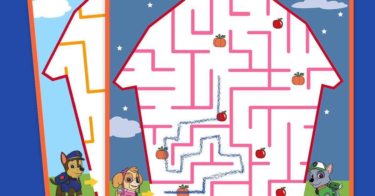 Paw Patrol Fall Maze Pack Nickelodeon Parents
