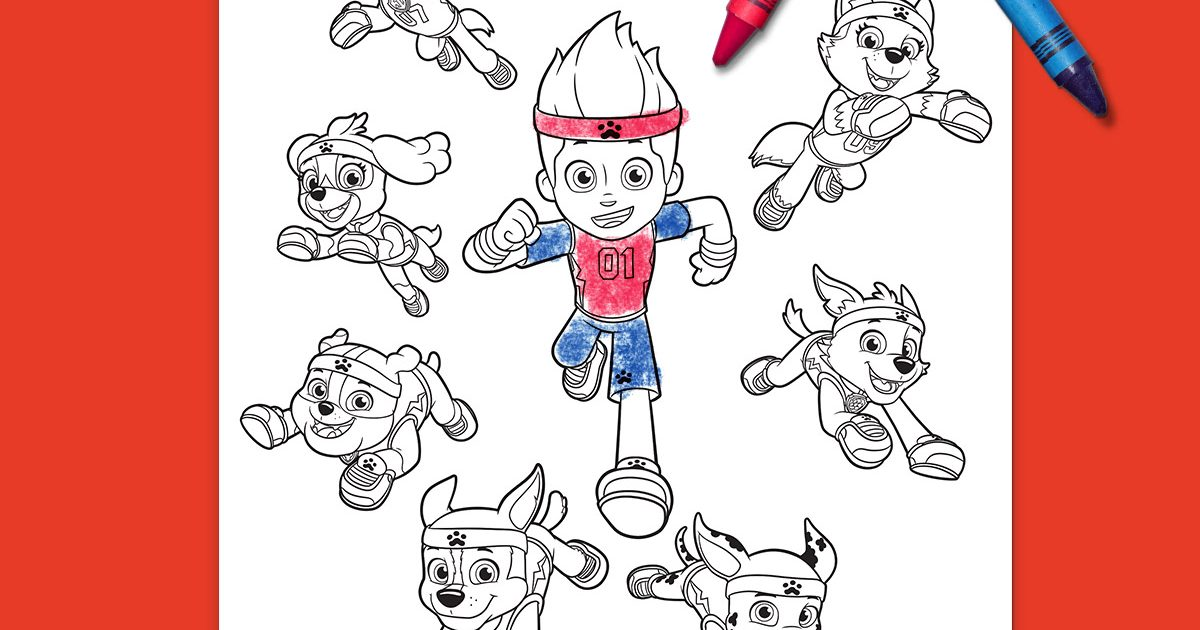Paw Patrol Ausmalbilder Malvorlagen In Free Printable Coloring Pages: PAW Patrol All-Stars Coloring Page