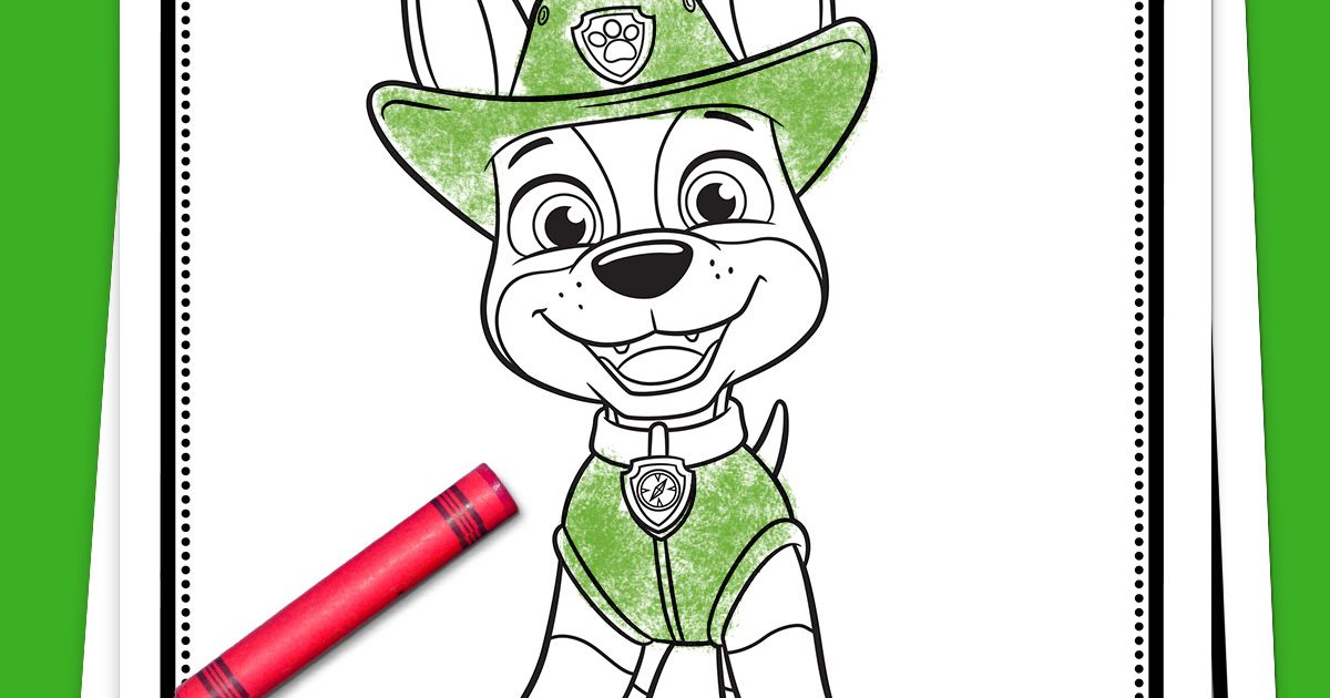 - PAW Patrol Tracker Coloring Pack Nickelodeon Parents