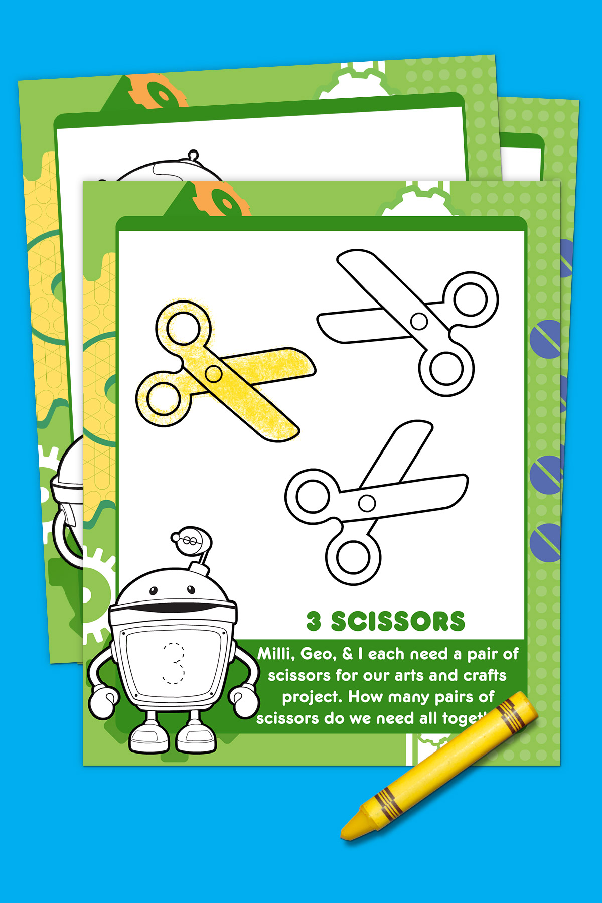 Umizoomi Bot's First Day of School Activity Pack