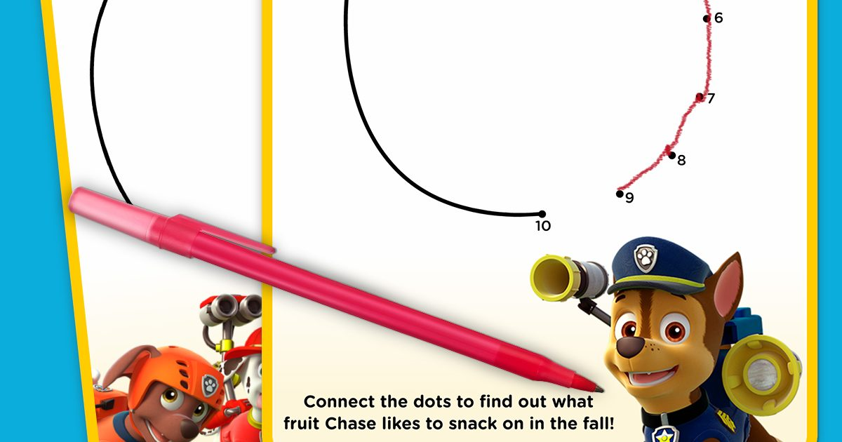 Paw Patrol Fall Connect The Dots Nickelodeon Parents
