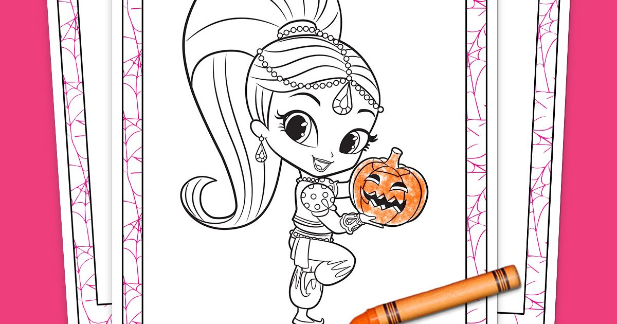 Shimmer And Shine Halloween Coloring Pack Nickelodeon
