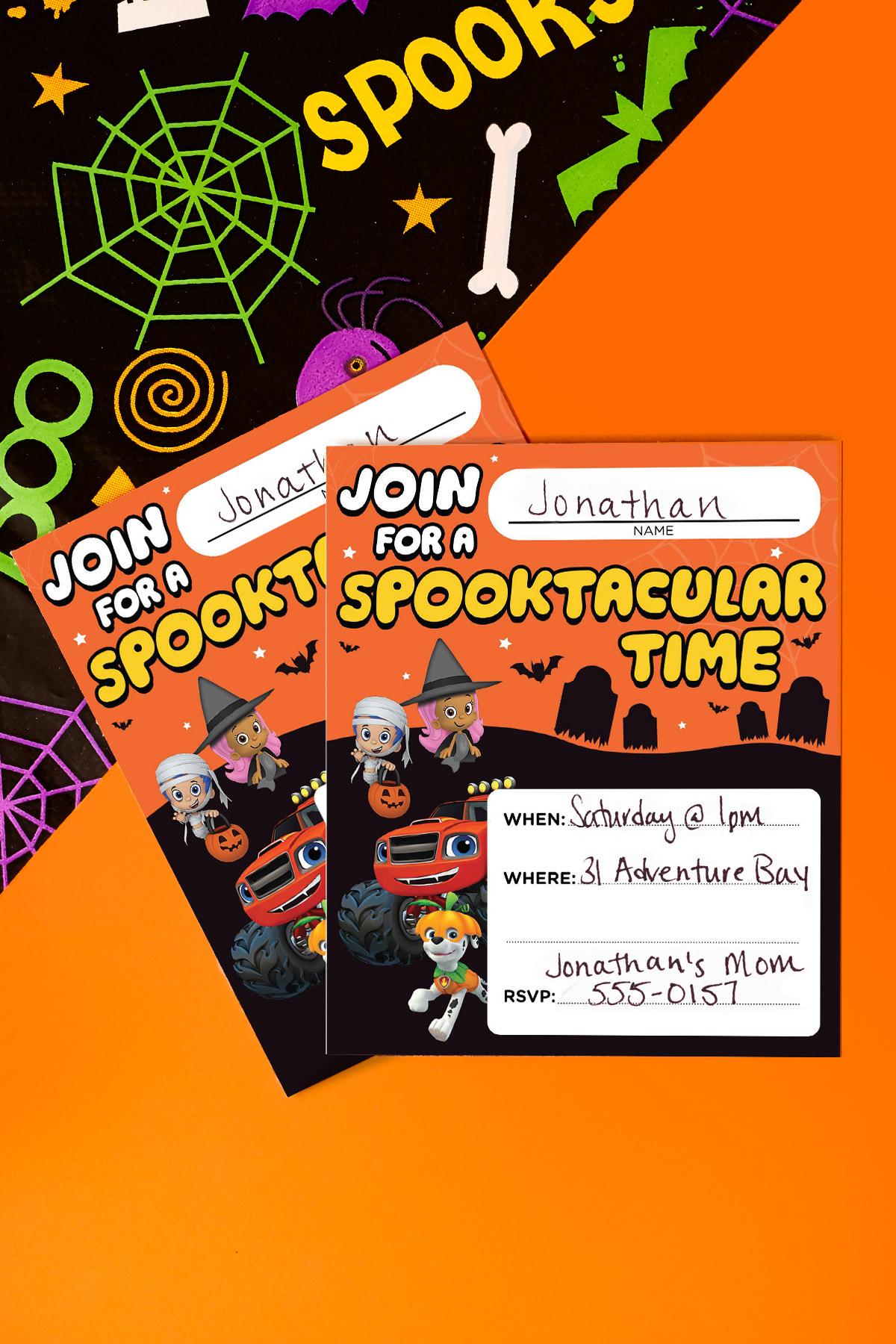 Nick Jr. Halloween Party Invitations
