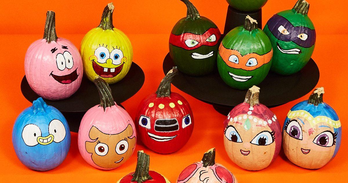 Nickelodeon Painted Pumpkins Nickelodeon Parents