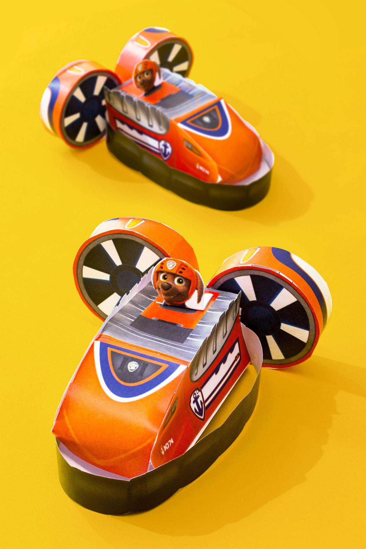 PAW Patrol Zuma Paper Vehicle Toy