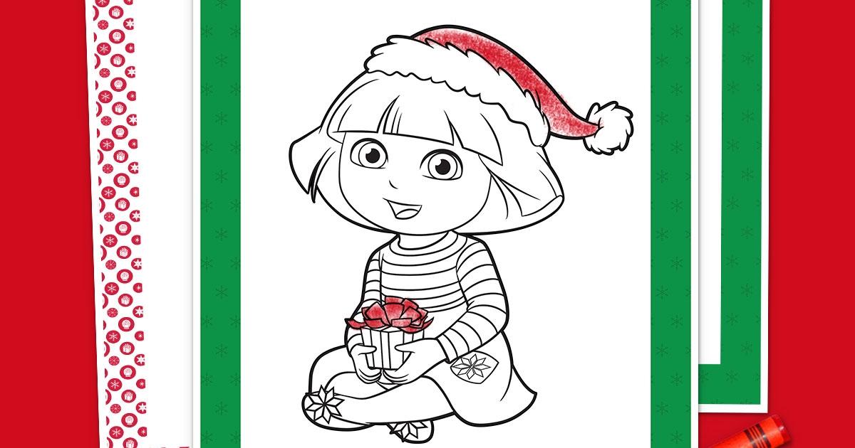 Dora Holiday Coloring Pack Nickelodeon Parents