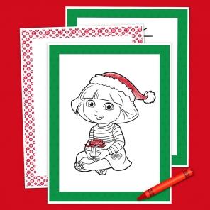 Dora Holiday Coloring Pack