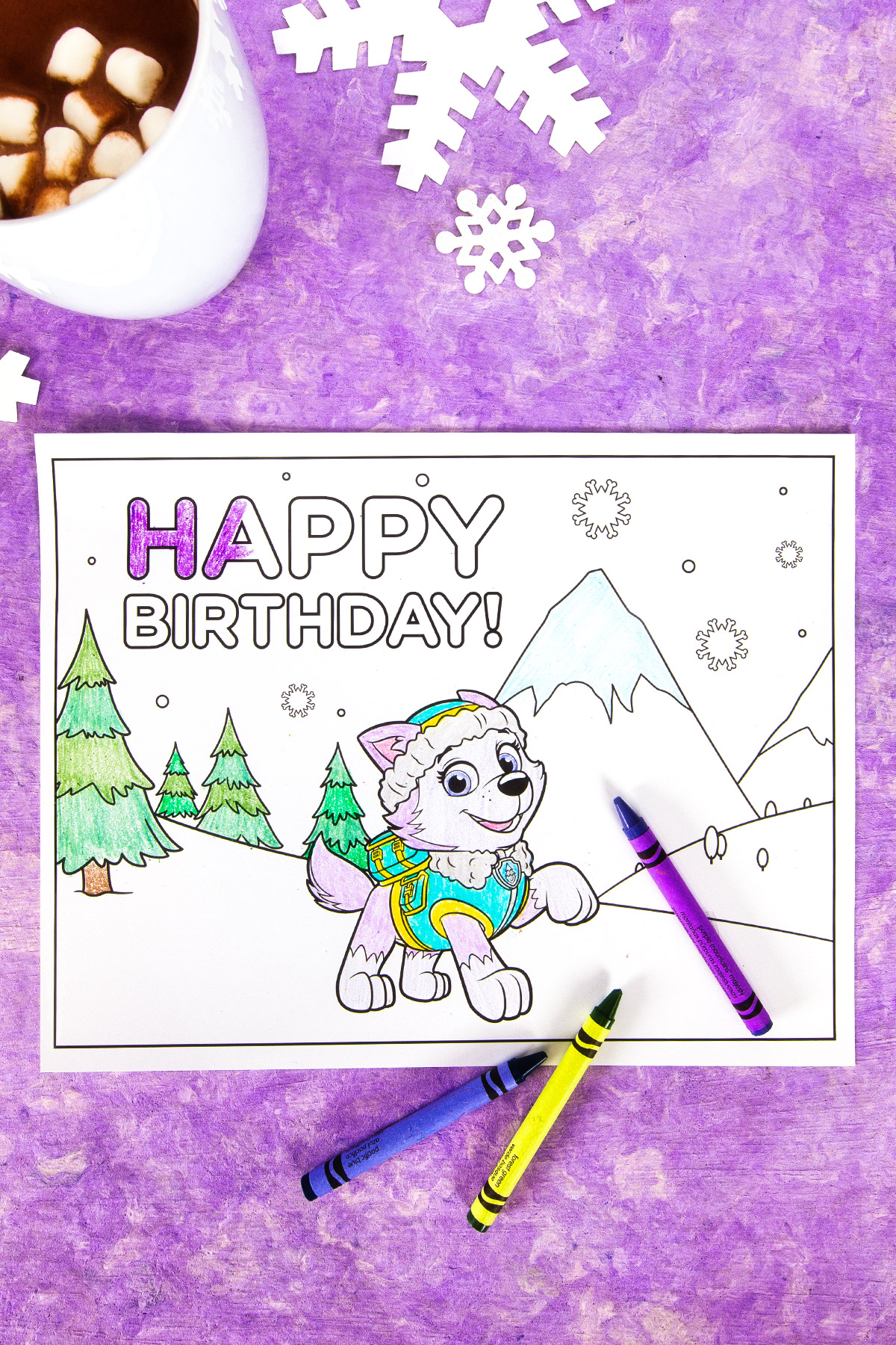 Everest Birthday Party Coloring Page Nickelodeon Parents - Birthday-party-coloring-pages