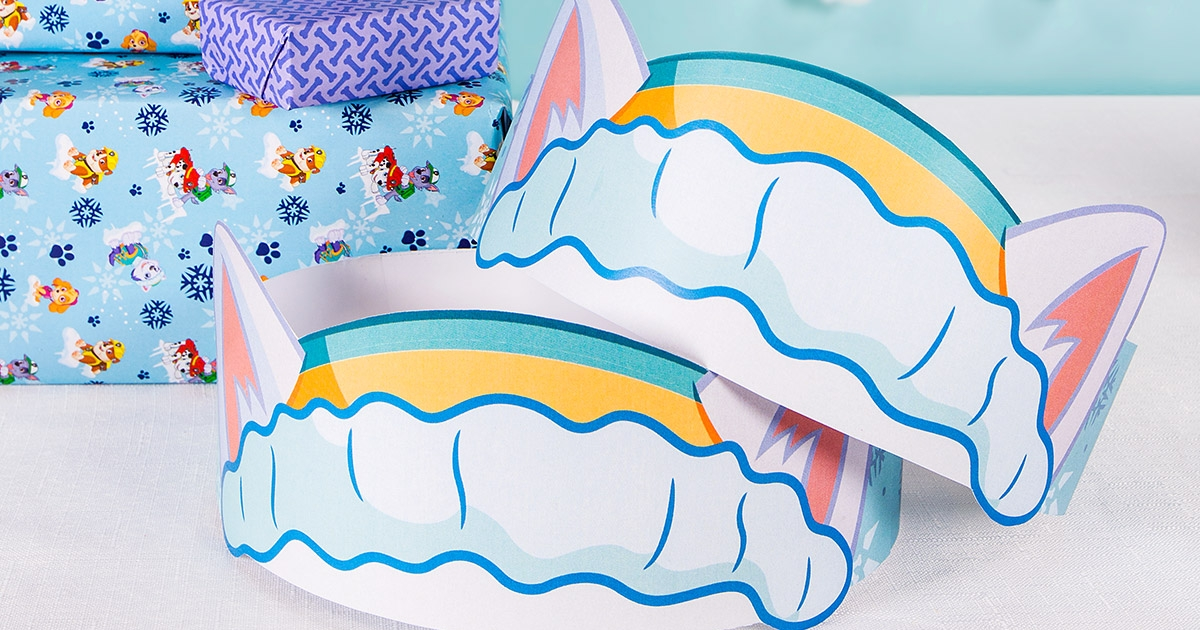 photograph regarding Paw Patrol Printable Decorations named Everest Ear Birthday Get together Hats Nickelodeon Mother and father