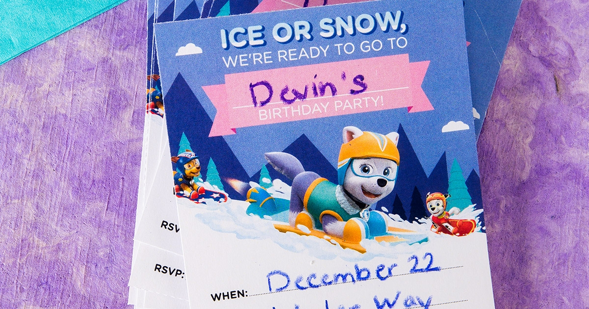 Everest Birthday Party Invitations Nickelodeon Parents