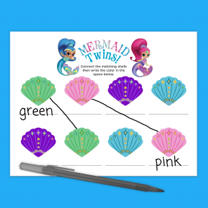 Shimmer and Shine Mermaid Activity Sheet
