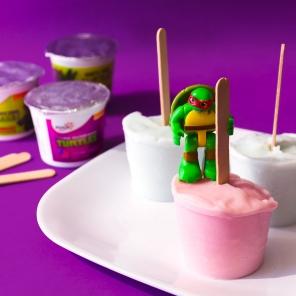 TMNT and SpongeBob Frozen Yogurt Pops