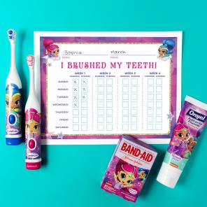 Shimmer and Shine Teeth Brushing Chart