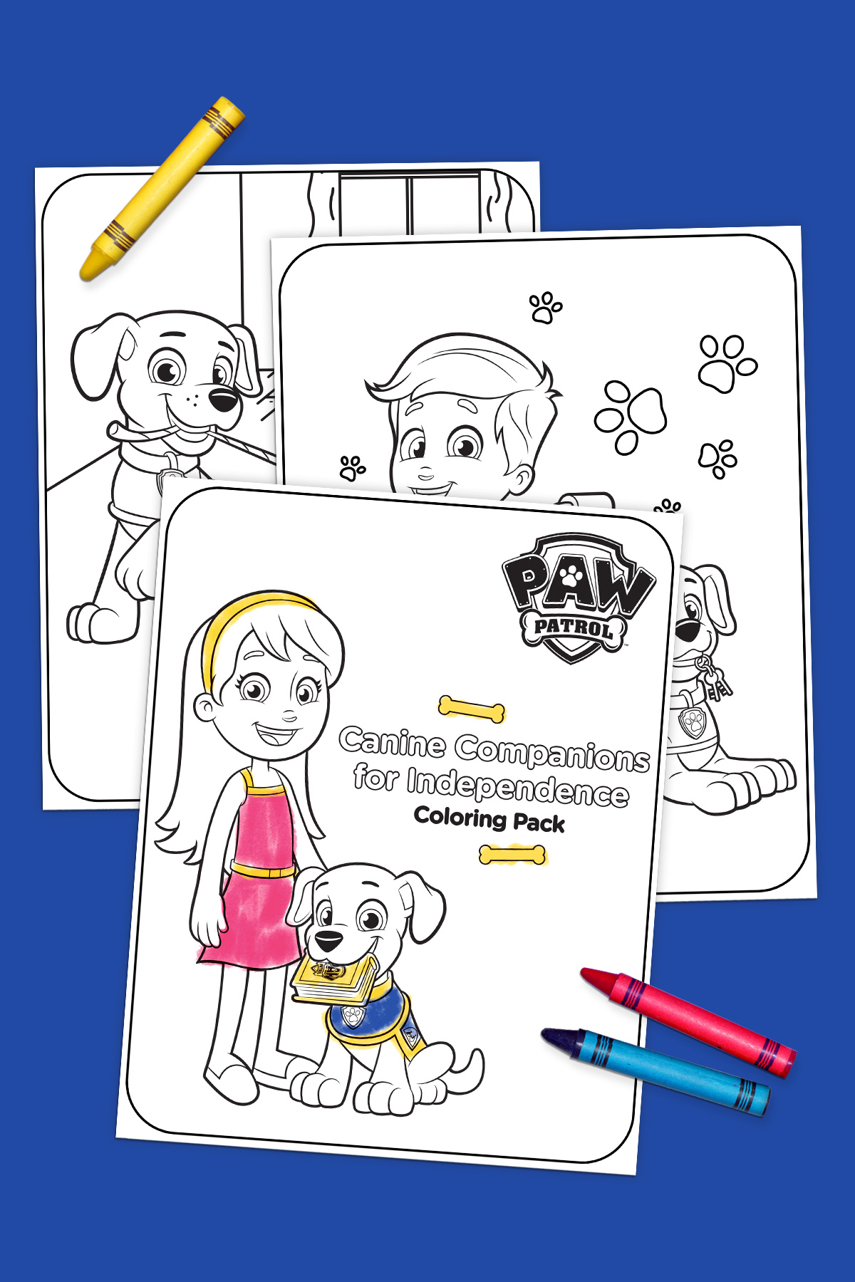 Canine companions for independence coloring pack nickelodeon parents