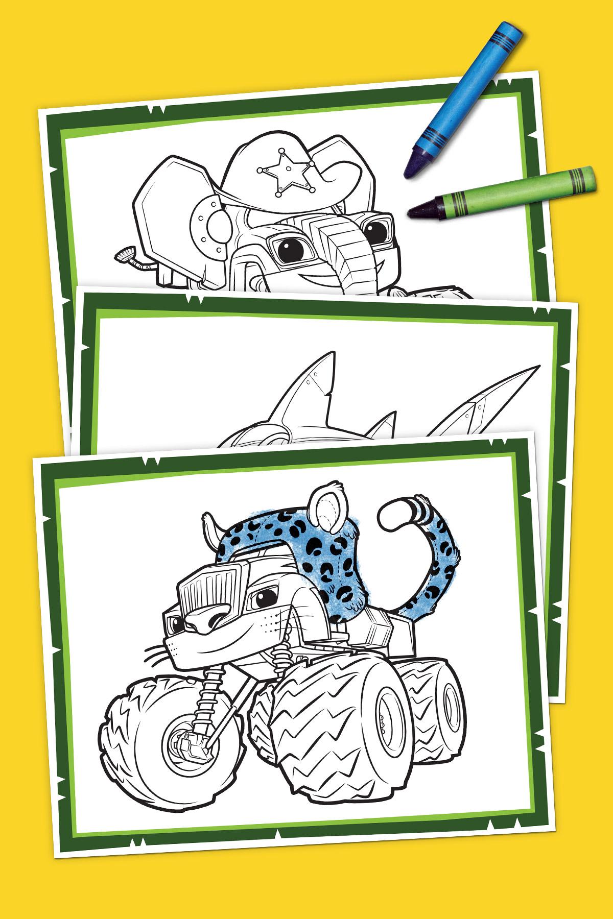 Blaze Wild Wheels Coloring Pack Nickelodeon Parents
