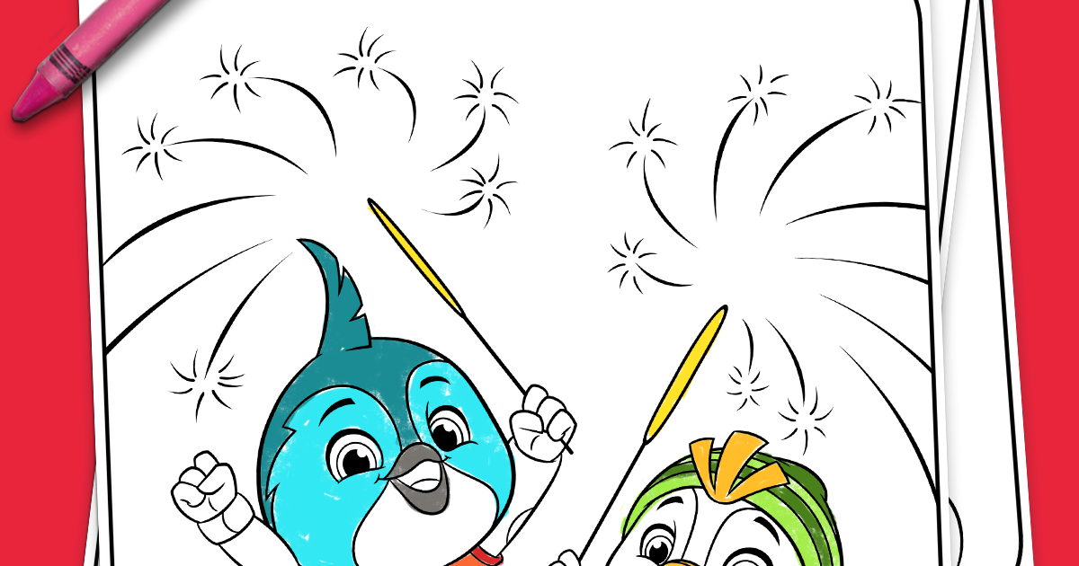 Your 4th Of July Coloring Page Nickelodeon Parents