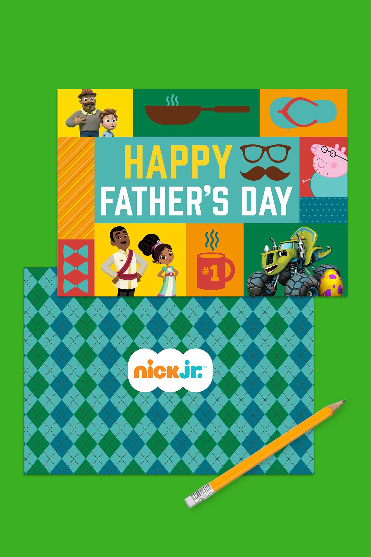 Nick Jr. Printable Father's Day Card