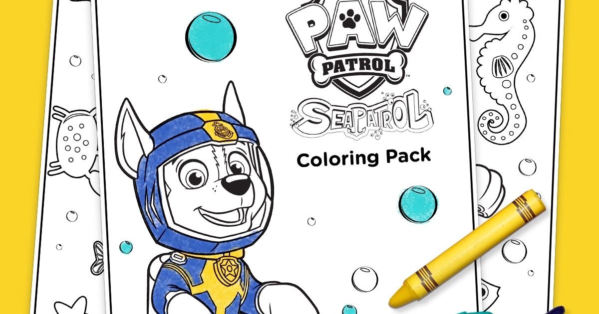 Sea Patrol Coloring Pack Nickelodeon Parents