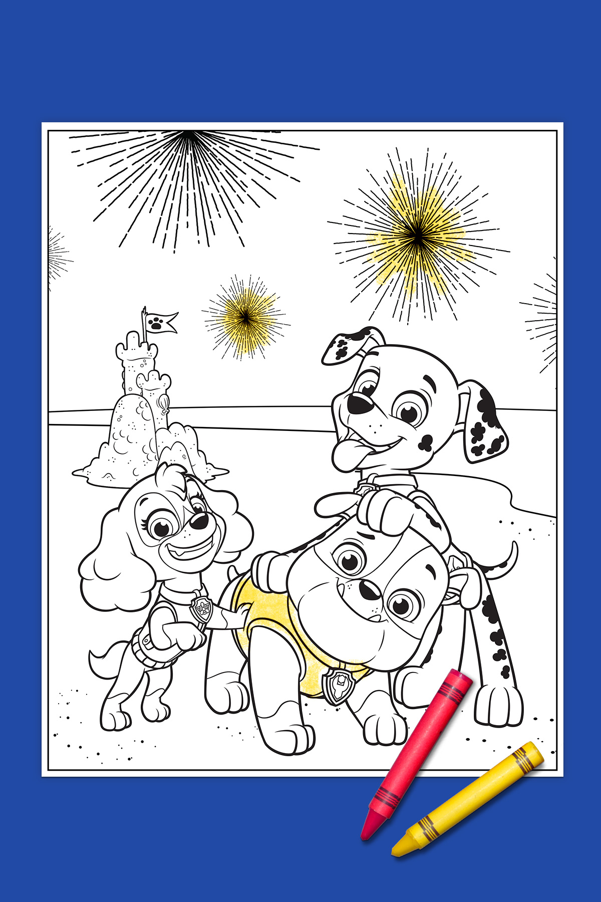 Your Paw Patrol 4th Of July Coloring Page Nickelodeon