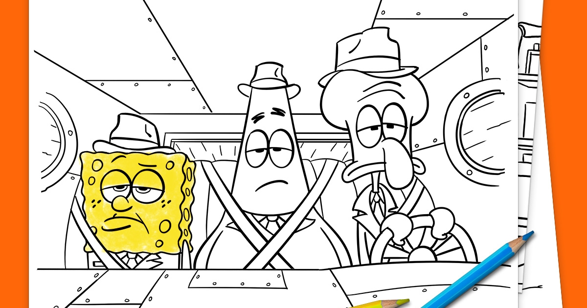 Printable Spongebob Coloring Pages For Kids | 630x1200