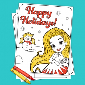 Sunny Day Holiday Coloring Pack
