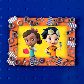 Rusty Rivets Father's Day Picture Frame