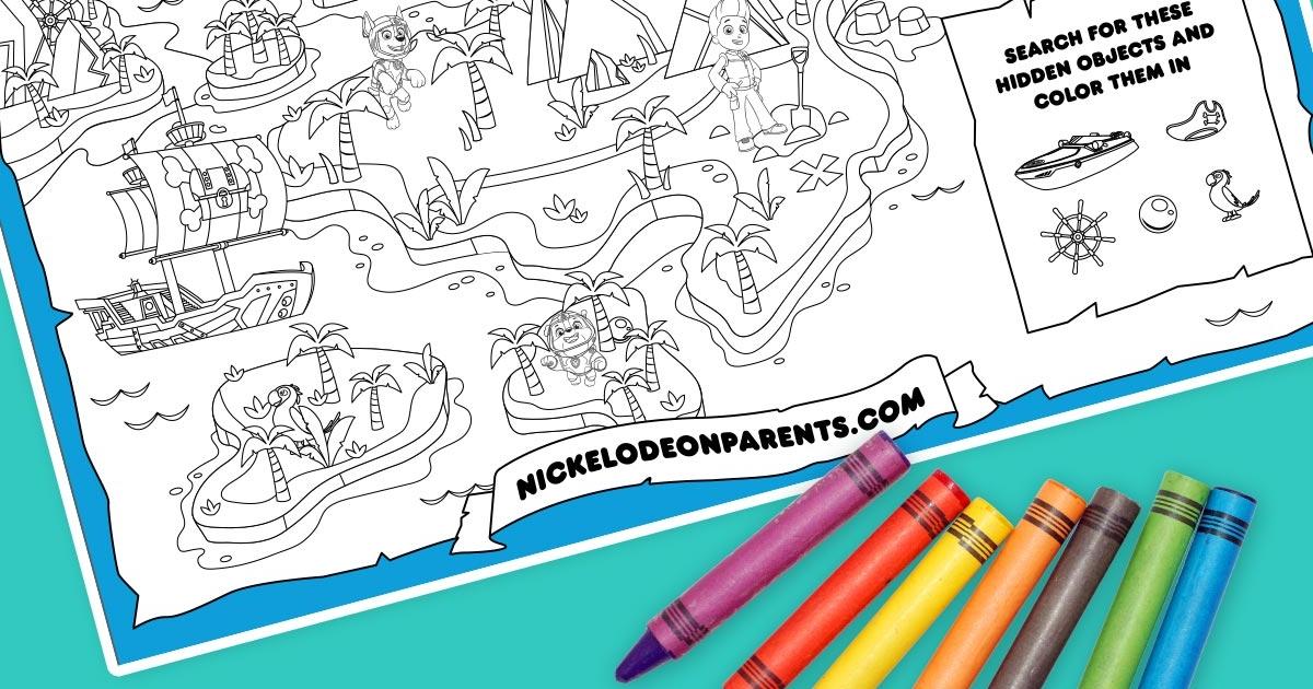 Sea Patrol Printable Treasure Map Nickelodeon Parents