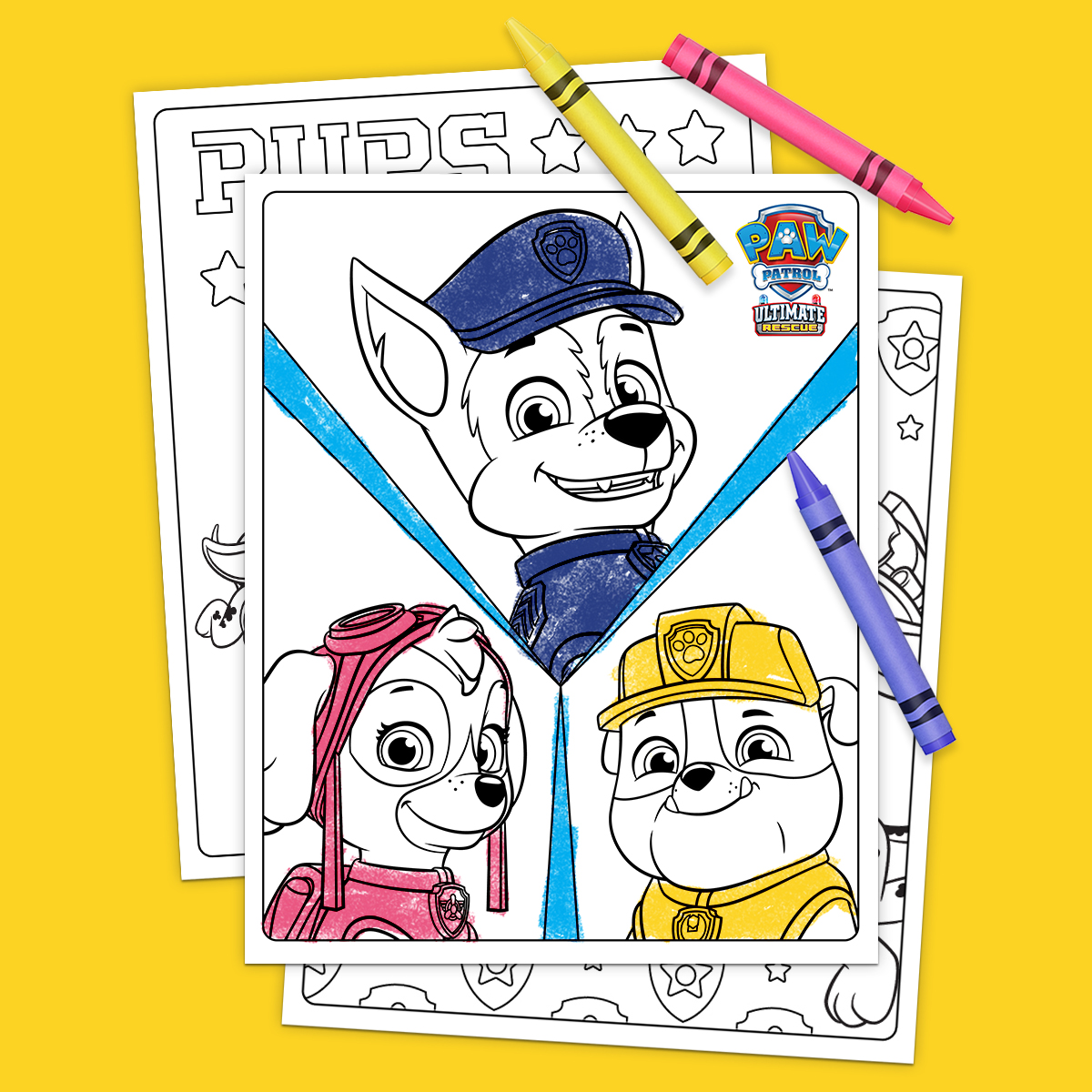 PAW Patrol Ultimate Rescue Coloring Pages | Nickelodeon ...