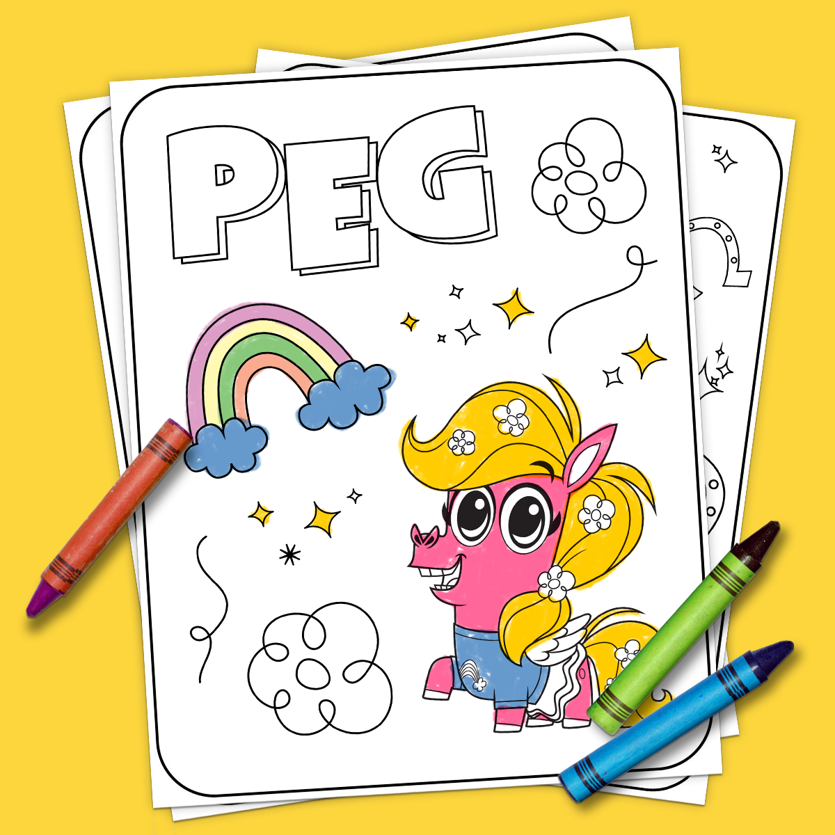 Corn and peg coloring pages nickelodeon parents