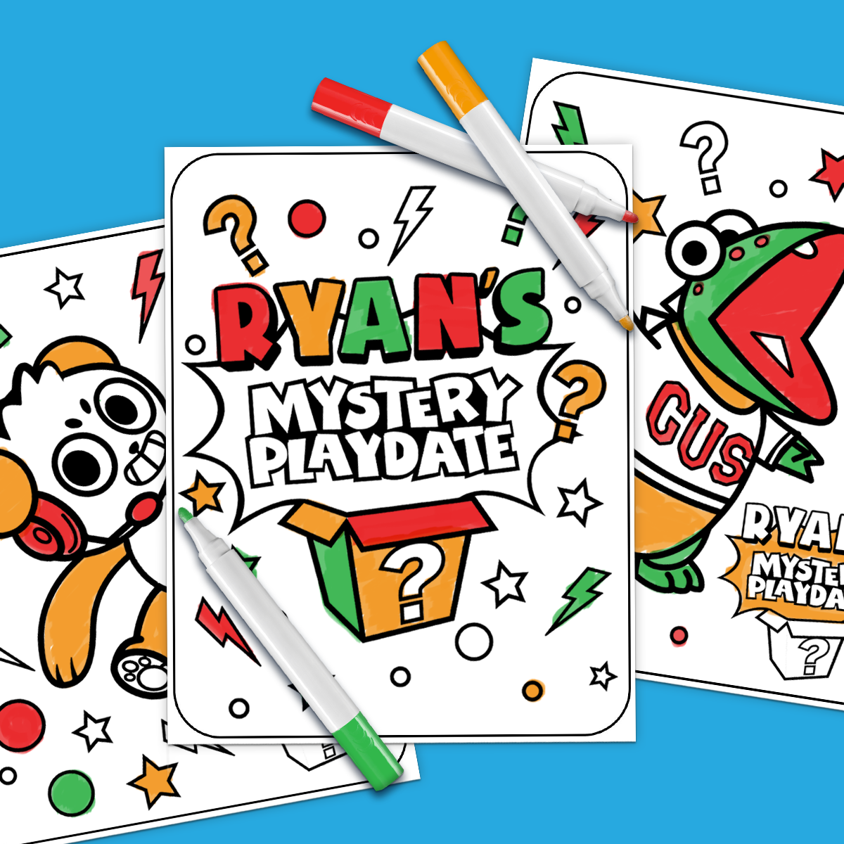 Ryans mystery playdate 3 marker challenge nickelodeon parents