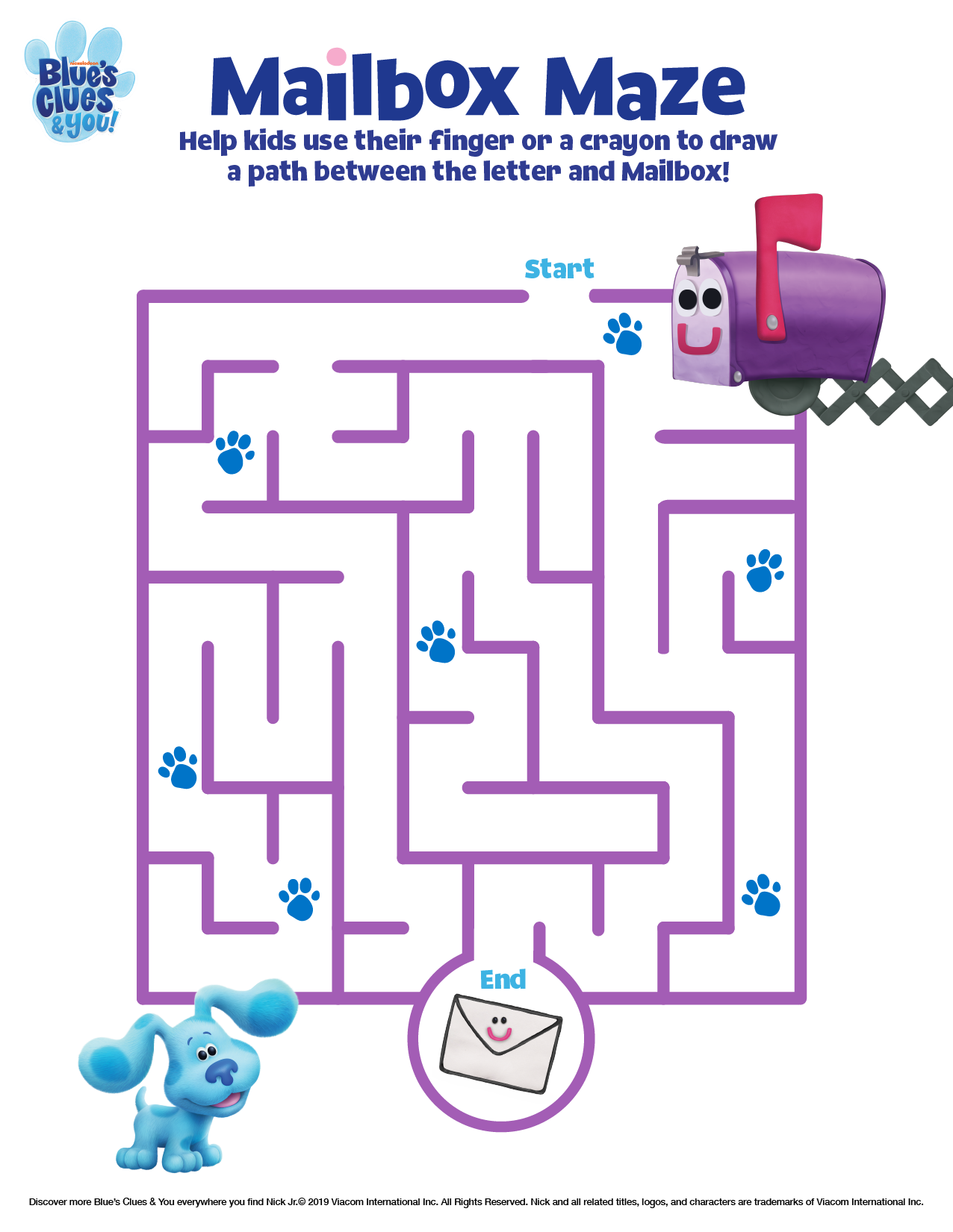 Blue\'s Clues & You Printable Maze | Nickelodeon Parents