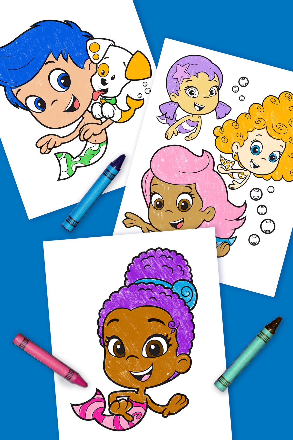 Bubble Guppies Coloring Pages - 25 Free Printable Sheets | 1800x1200