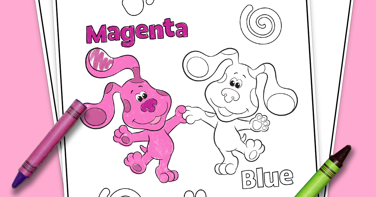 Printable Blue's Clues Coloring Pages | ColoringMe.com | 630x1200