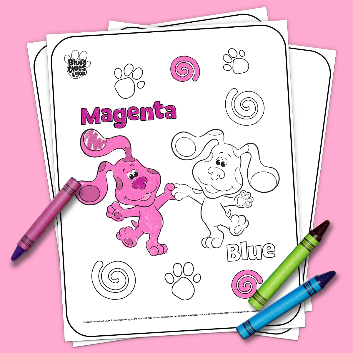 - Blue's Clues & You Printable Coloring Page Nickelodeon Parents