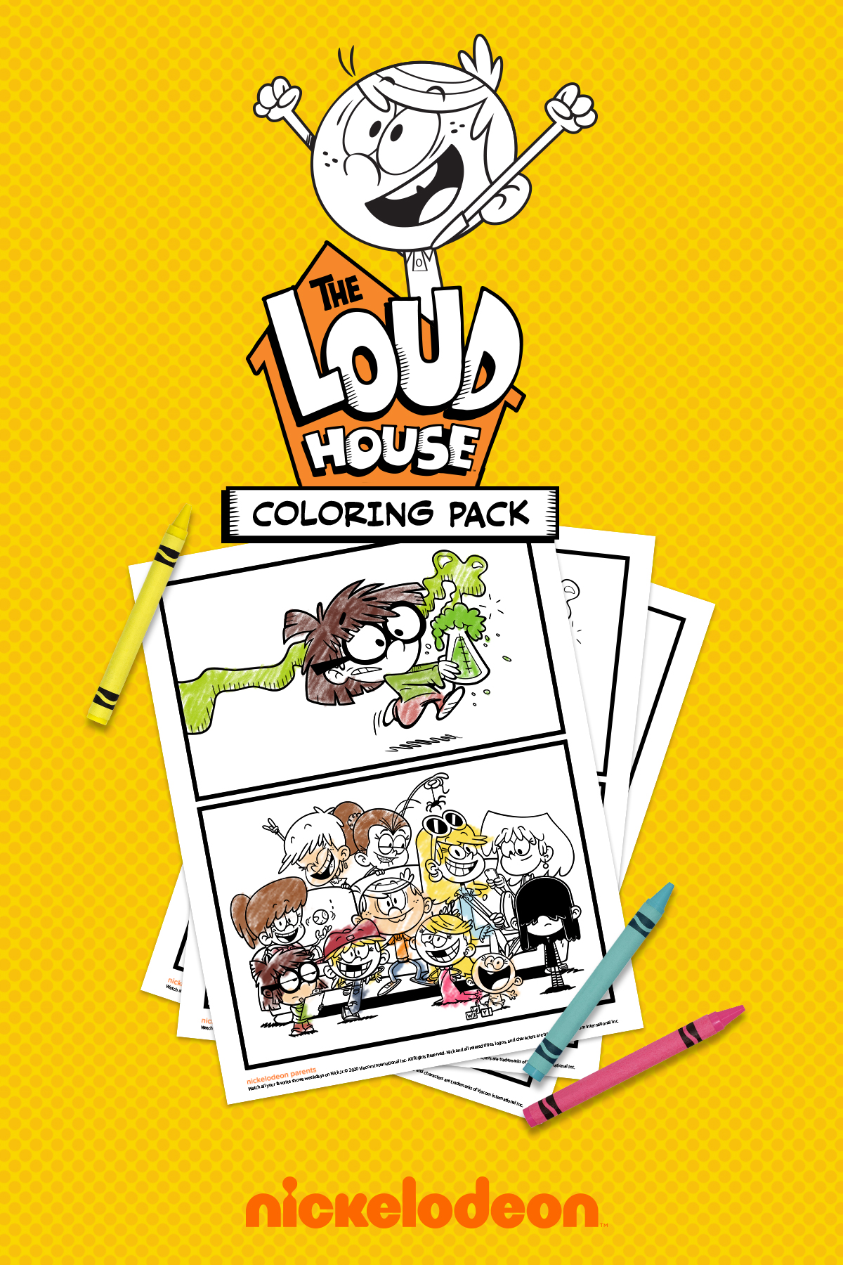 Lincoln Loud Coloring Page - Free The Loud House Coloring Pages ... | 1800x1200