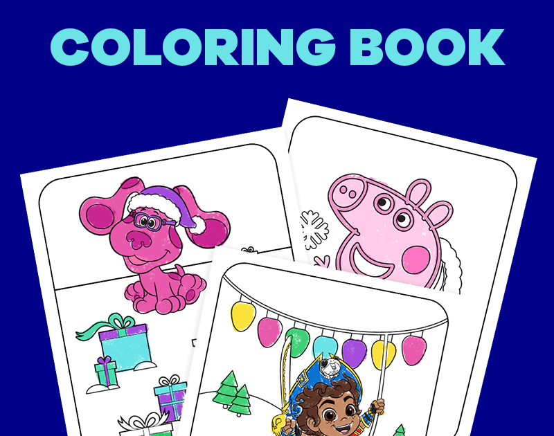 - 12 Days Of Nick Jr. Holiday Coloring Book Nickelodeon Parents