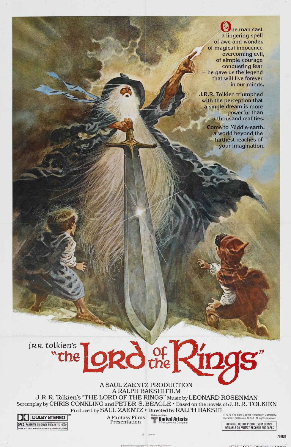 Poster for Lord of the Rings (1978)